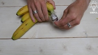 How to keep bananas fresh longer - Video