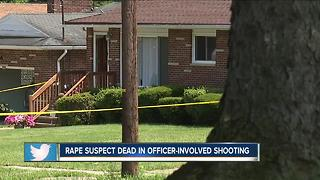 Rape suspect dead after exchanging gunfire with Akron police officers - Video