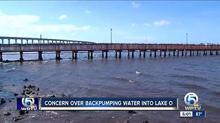 Concern over backpumping water into Lake Okeechobee - Video