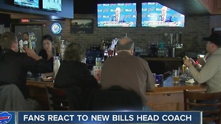 Fan reaction to new Buffalo Bills coach - Video