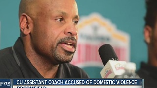 CU Buffaloes assistant coach Joe Tumpkin suspended from team amid police investigation - Video