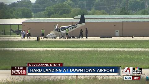 Aircraft makes hard landing at Downtown Airport