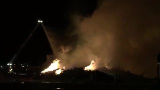 RAW VIDEO: Landfill Fire near Houghton and Drexel - Video