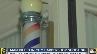 Police searching for 3 suspects wanted in murder of 26-year-old inside barber shop - Video