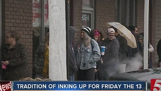 Tattoo Parlor Makes The Unlucky Friday 13th Lucky With Discounts - Video