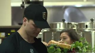 Vegas Golden Knights prospects serve meals at Catholic Charities - Video
