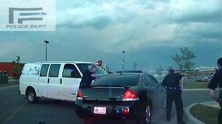 Dash-cam video shows citizen help stop suspect chased by Ferndale police - Video