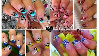 Compilation of beautiful nail art designs - Video