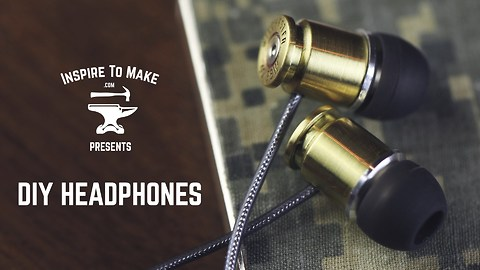 DIY headphones made with real bullets