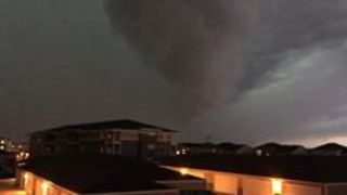 Wild Storm With Possible Funnel Cloud Sweeps through Fargo, North Dakota - Video