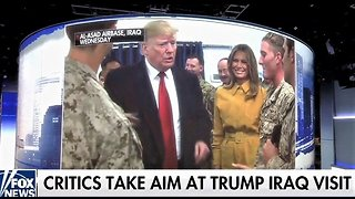 Left-wing media slam Trump's visit to US troops in Iraq