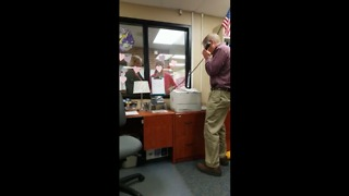 Teacher sings over PA for Valentine's Day - Video