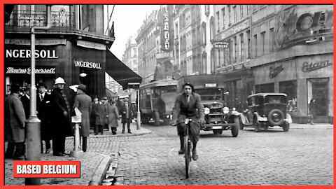 Brussels in the 1950s, when it was still a Belgian city before multicultural enrichment!