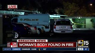 Woman's body found after Glendale fire - Video