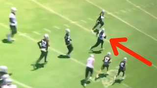Marshawn Lynch Activates BEAST MODE at Raiders OTAs - Video