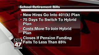 Michigan legislative panels OK teacher pension changes - Video