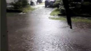 Rain and Hail Cause Flash Floods in Eastern Pennsylvania - Video