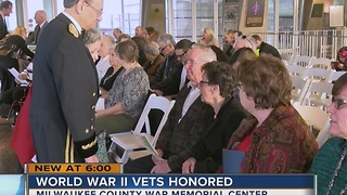 World War II vets from Wisconsin honored with legion of honor medals - Video