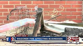 Wagoner downtown rebuilding after fire - Video
