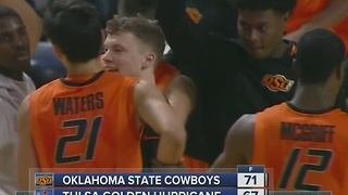 Short-handed Oklahoma State Basketball defeats Tulsa, 71-67 - Video