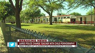 Largo police charge teacher with child pornography - Video