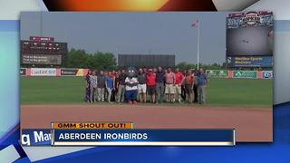 The Aberdeen Ironbirds say Good Morning Maryland