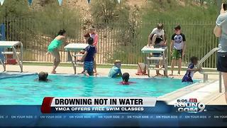 Preventing children from dry drowning, YMCA offers free swim classes - Video
