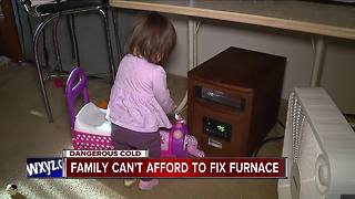 Family struggles with broken furnace - Video