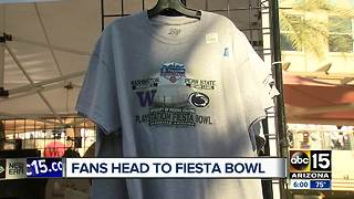 Fans flock to Phoenix for annual Fiesta Bowl - Video