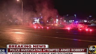 Police investigating attempted armed robbery and shooting in Laveen - Video