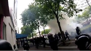 GoPro Captures Intense Clashes Between Police and Labor Reform Protesters in Paris - Video