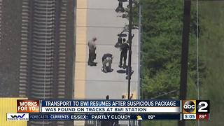 Service resumes after package investigation at BWI Amtrak station - Video