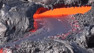 Lava Flows From Kilauea Volcano in Hawaii - Video