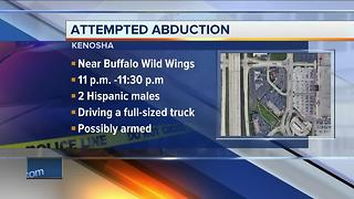 Kenosha police seek two suspects involved in attempted abduction near Buffalo Wild Wings restaurant - Video