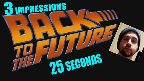 Talented impressionist does 3 'Back To The Future' voices In one take