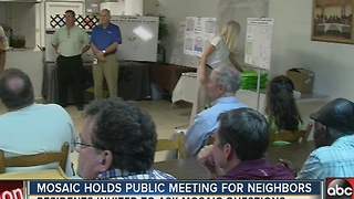 Mosaic holds public meeting for neighbors - Video