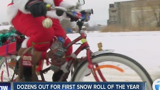 Dozens out for first Snow Roll of the year - Video