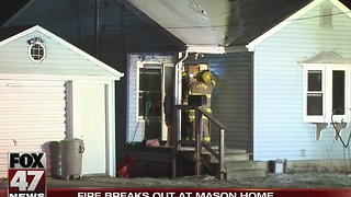 Fire breaks out at home in Mason - Video
