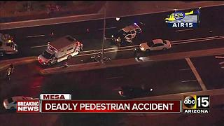 Deadly car vs. pedestrian crash in Mesa - Video