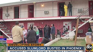 Accused slumlord busted in Phoenix after restidents found in deplorable conditions - Video