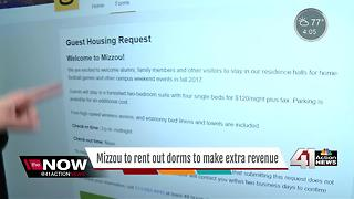 Mizzou dorms will be available for guests of football games, other events as hotel rooms - Video