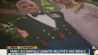 Family accidentally donates relative's war medals - Video