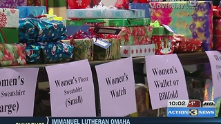 Omaha's homeless surprised with Christmas gifts - Video