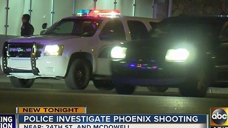 PD: Officials searching for gunman after person shot in central Phoenix - Video