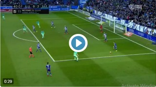 Neymar scores goal vs Alaves 0-2 - Video