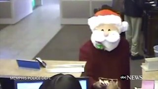 Memphis Police Hunt 'Santa' Bank Robbery Suspect - Video