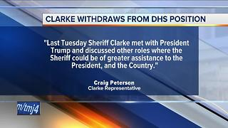 Milwaukee County Sheriff David Clarke withdraws name from consideration for DHS position