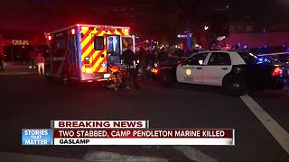 Police identify downtown San Diego stabbing victim as Marine - Video