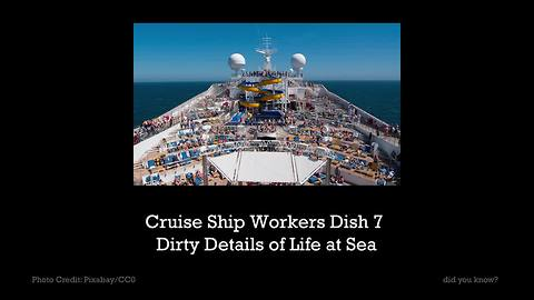 Cruise Ship Workers Dish 7 Dirty Details of Life at Sea
