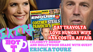 Gay Travolta's Love Hungry Wife Has Costner Affair: Extra Hot T Season Finale - Video